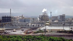 Brazilian Vale-Inco nickel plant in Noumea