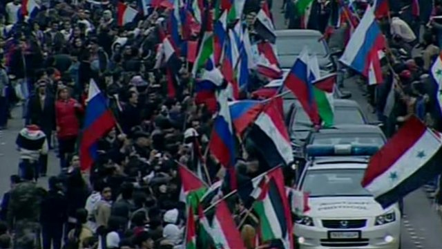 Sergei Lavrov's convoy