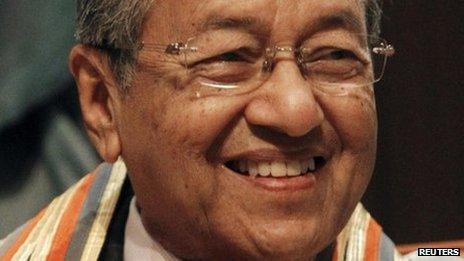 Former Malaysian Prime Minister Mahathir Mohamed