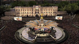 An artist's impression of the stage