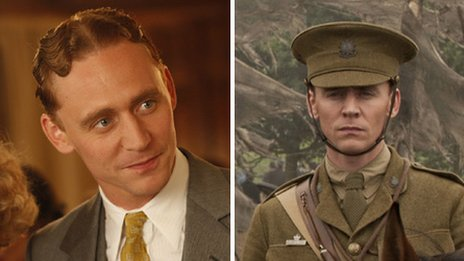 Tom Hiddleston in Midnight in Paris and War Horse
