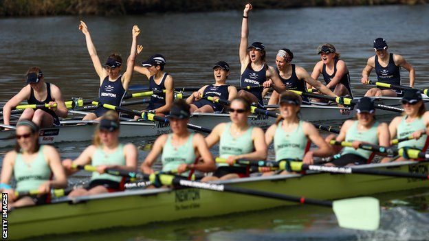 Oxford beat Cambridge by a length in last year&#039;s women&#039;s Boat Race