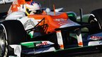 Paul di Resta of Great Britain drives the new Force India VJM05 during Formula One winter testing at the Circuito de Jerez