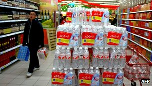 Bottled water in Nantong in Jiangsu province