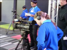 School Reporters from Blakewater College try their hand at filming