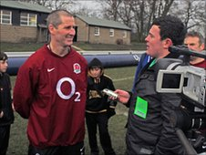 Pupils interview Stuart Lancaster
