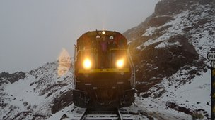 Train on FAC in Andes