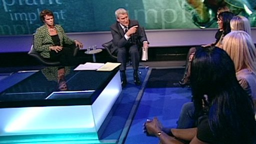 Health Minister Anne Milton with Jeremy Paxman