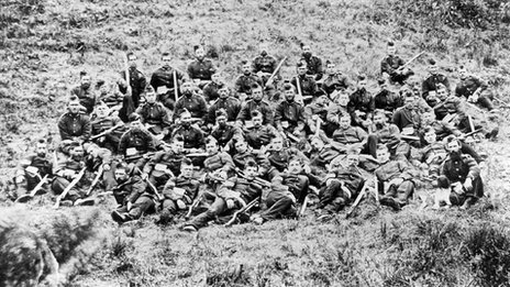 These men are the These men are the B Company 2/24th Regiment- the men who defended Rorke's Drift.- the men who defended Rorke's Drift.