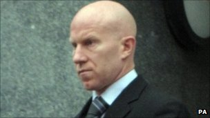 Lee Hughes arriving at court