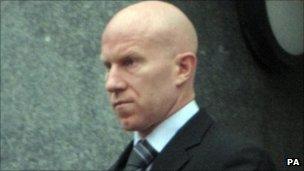 Lee Hughes arriving at court