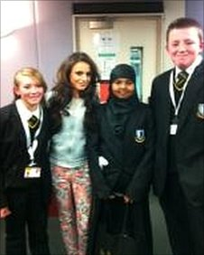 Cher Lloyd with the School Reporters