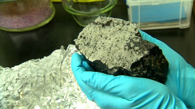 Dr Smith says the meteorite shows that the actual colour of Mars is grey