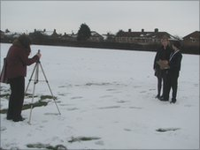 School Reporters out in the snow in Diss