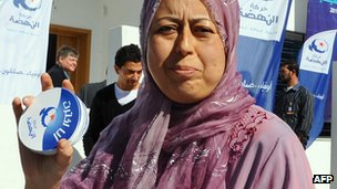 Ennahda party activist in Tunisia
