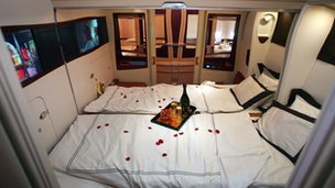 Singapore Airlines first-class cabin