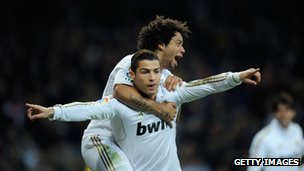 Ronaldo celebrates goal