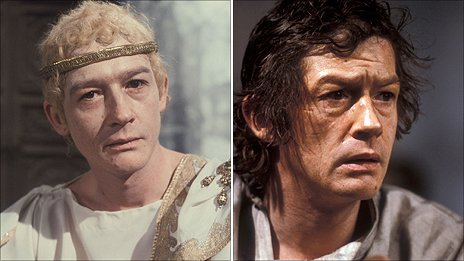 John Hurt (left) as Caligula and (right) Raskolnikov