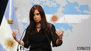 Argentine President Cristina Fernandez de Kirchner