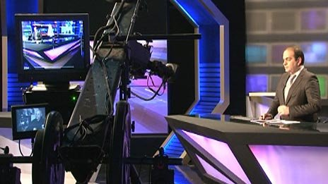 A broadcast on Georgian TV station Rustavi 2