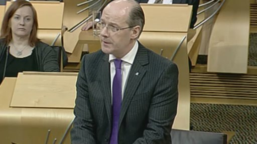 Finance Secretary John Swinney leads the Budget Bill debate.