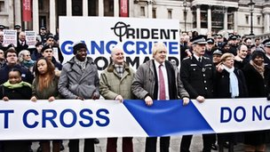 Met Police launch gang crime initiative with photocall in Trafalgar Square
