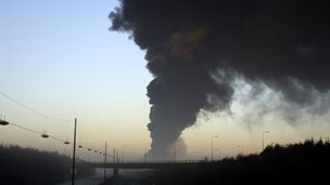 Buncefield fire in 2005