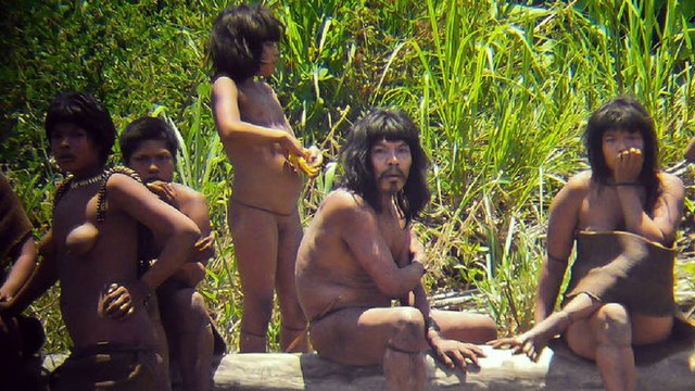 Nude tribe woman