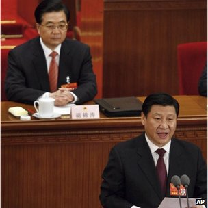 China s president hu jintao xi jinping foreground