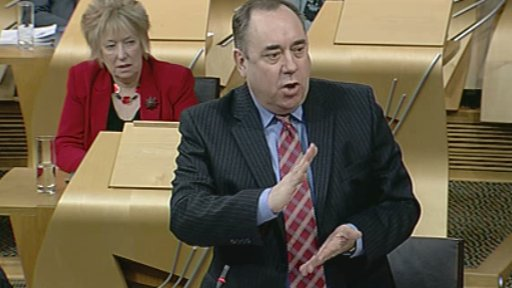 First Minister Alex Salmond answers opposition party leaders' questions