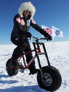 Helen Skelton in Antartica