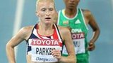 Barbara Parker competes at the 2011 World Championships in Daegu, South Korea.