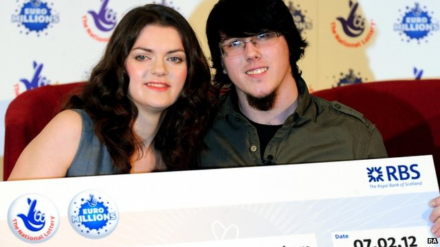 EuroMillions lottery winners Cassey Carrington and Matt Topham