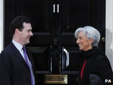 Chancellor George Osborne meets with President of the International Monetary Fund Christine Lagarde