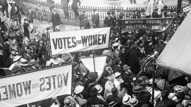 Votes for Women banners
