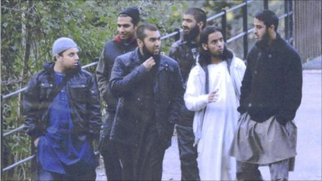 Mohibur Raham, Gurukanth Desai, Abdul Miah, Usman Khan, Mohammed Chowdhury, Mohammed Shahjahan (pictured, left to right) in Roath Park, Cardiff on 7 November 2010