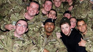 Professor Green with the 7 Armoured Brigade in 2011