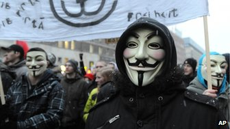 Anti-ACTA protest in Warsaw