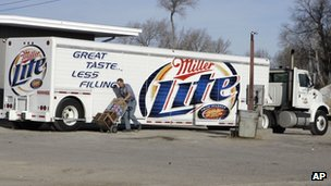 Beer is delivered to a store in Whiteclay, Nebraska, in March 2006 