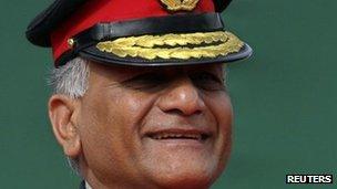 Gen VK Singh, Delhi, Jan 2012