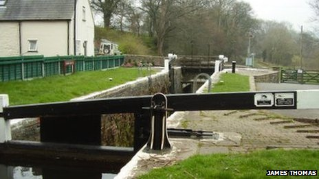 Lock on the Monmouthshire & Brecknock