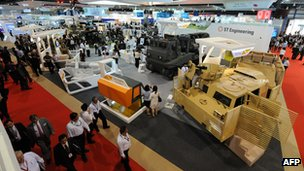 Defence equipment on display at Singapore airshow in 2010