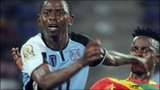 Dipsy Selolwane of Botswana in action against Guinea at the 2012 Africa Cup of Nations