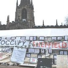 Occupy Sheffield tent
