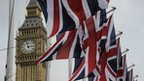 Big Ben and Union Jack flags