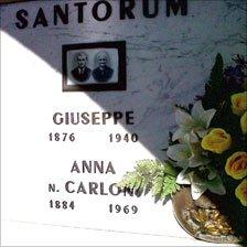 Giuseppe Santorum's gravestone
