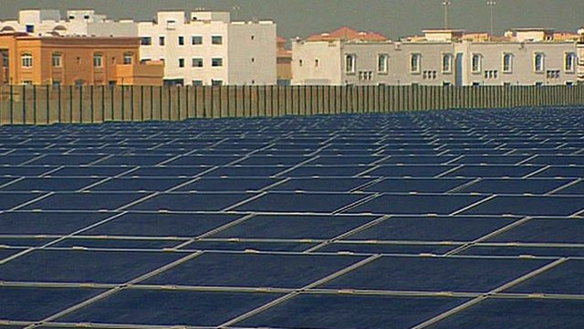 Solar panels at Masdar