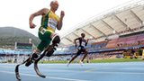 Oscar Pistorius competes at the IAAF World Championship in Daegu