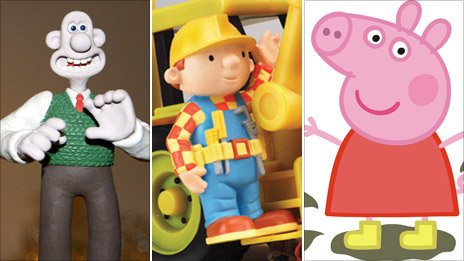 Wallace & Gromit, Bob the Builder and Peppa Pig