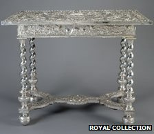 Silver table, photo courtesy of The Royal Collection © 2012, Her Majesty Queen Elizabeth II
